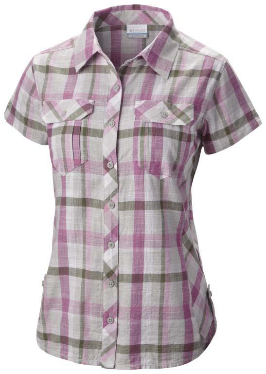 COLUMBIA Camp Henry S/S Shirt Foxglove / Plaid