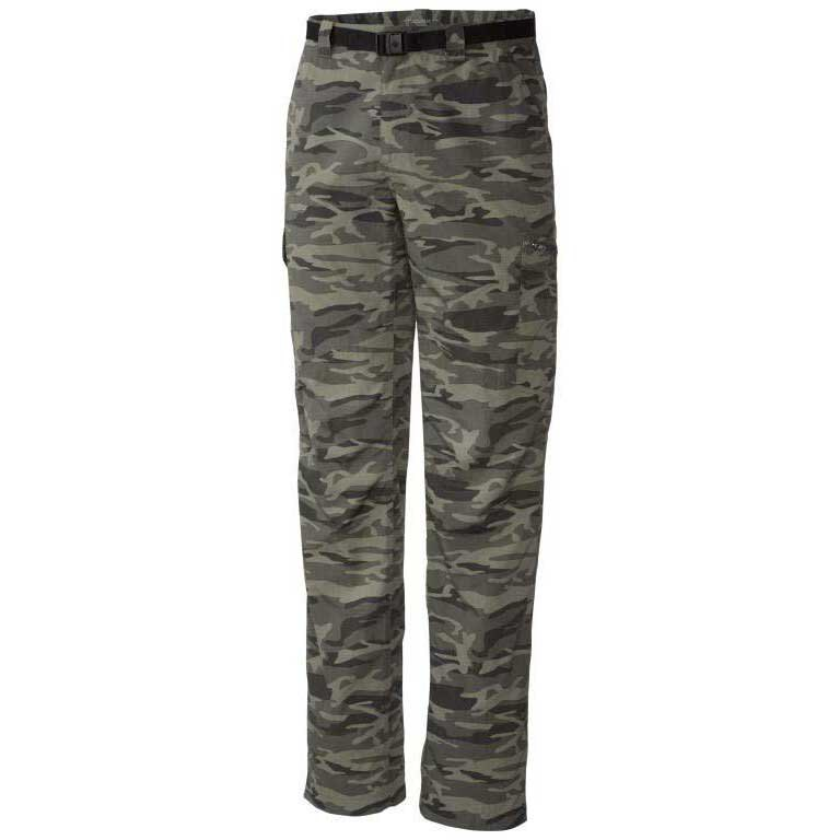 Columbia Silver Ridge Printed Cargo Pants Long Gravel Camo Print