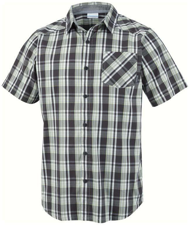 Columbia Decoy Rock II S/S Shirt Shark / Mid Plaid