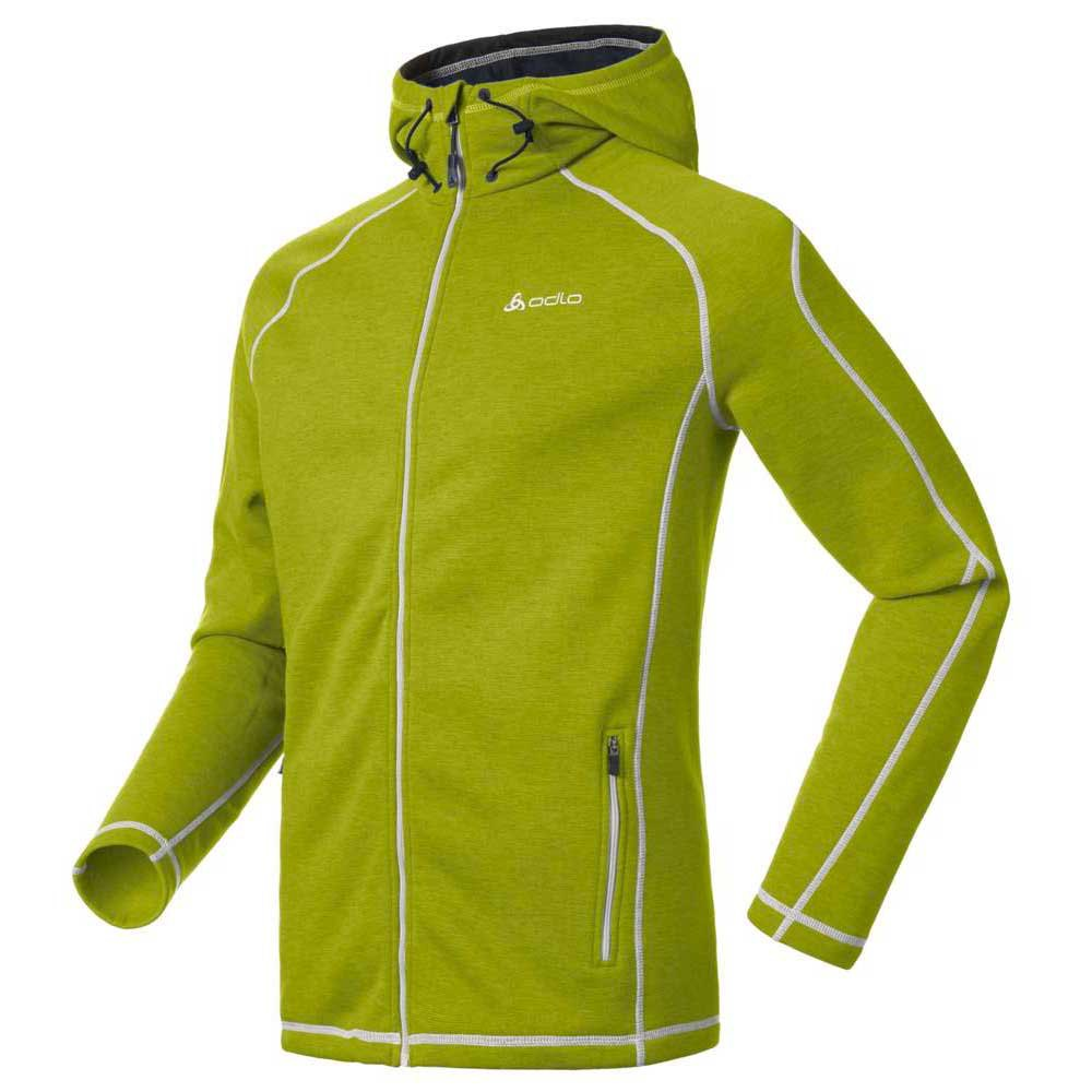 ODLO Hoody Midlayer Full Zip Whitewater