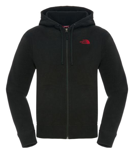 The north face 100 Embro Full Zip Hoodie Tnf Black   Tnf Red 7960f6f3c