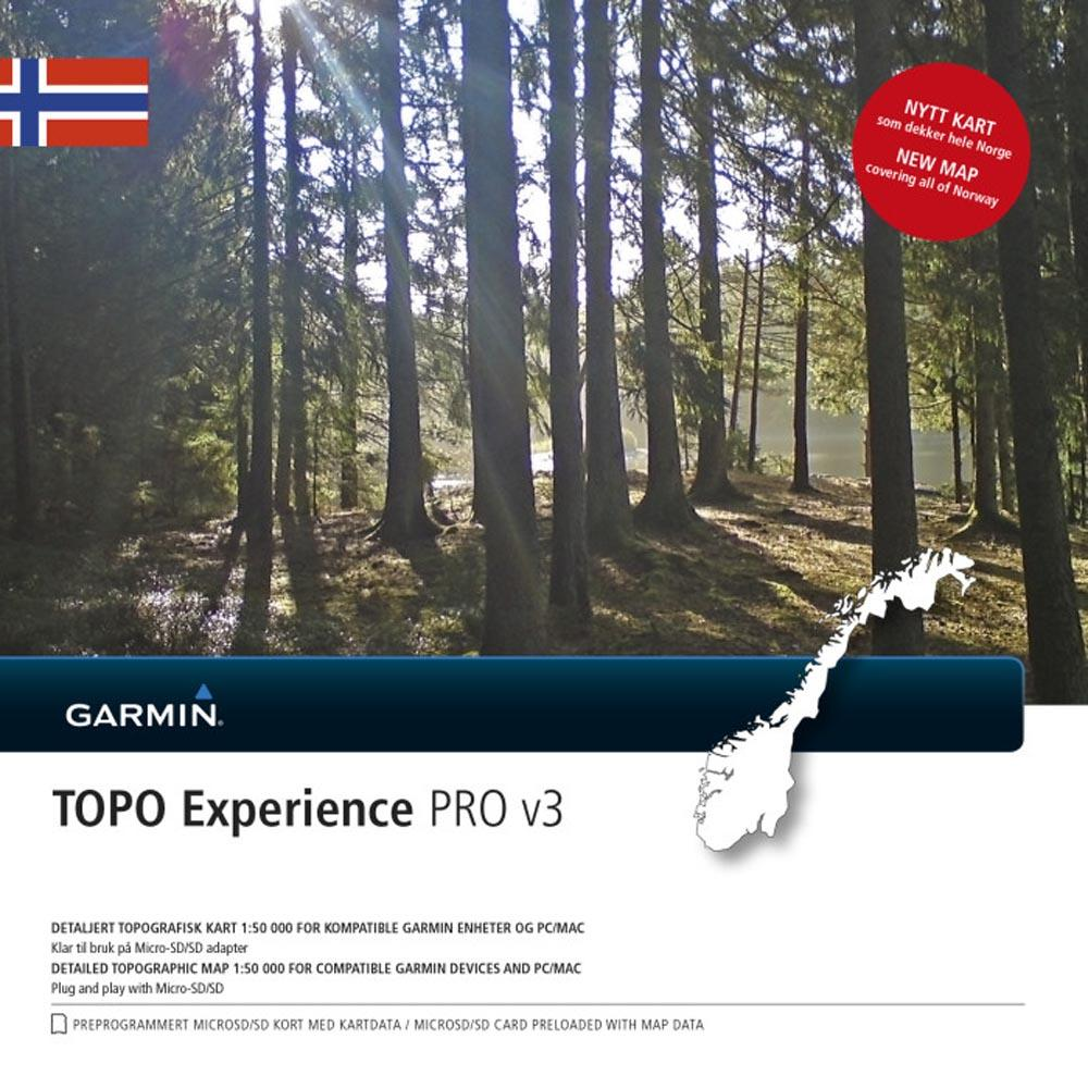topo pro kart Garmin Topo Norway Experience PRO V3 MicroSD/SD Black, Trekkinn topo pro kart
