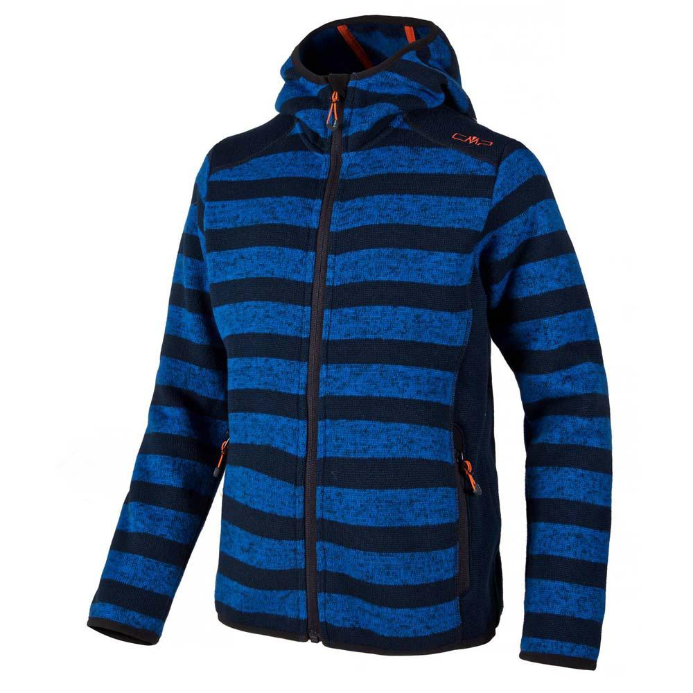 Cmp Fleece Jacket Fix Hood China Blue / Anth. Boys
