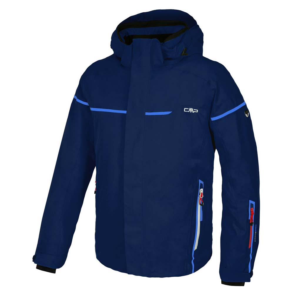 Cmp Ski Jacket Zip Hood / Royal / Lacca