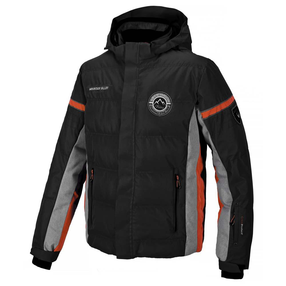 Cmp Ski Jacket Zip Hood / Grey Melange / Spicy Orange