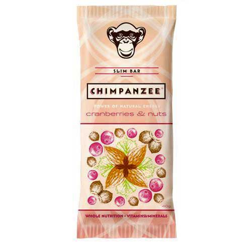 Chimpanzee Energy Bar Cranberries And Nuts 40gr