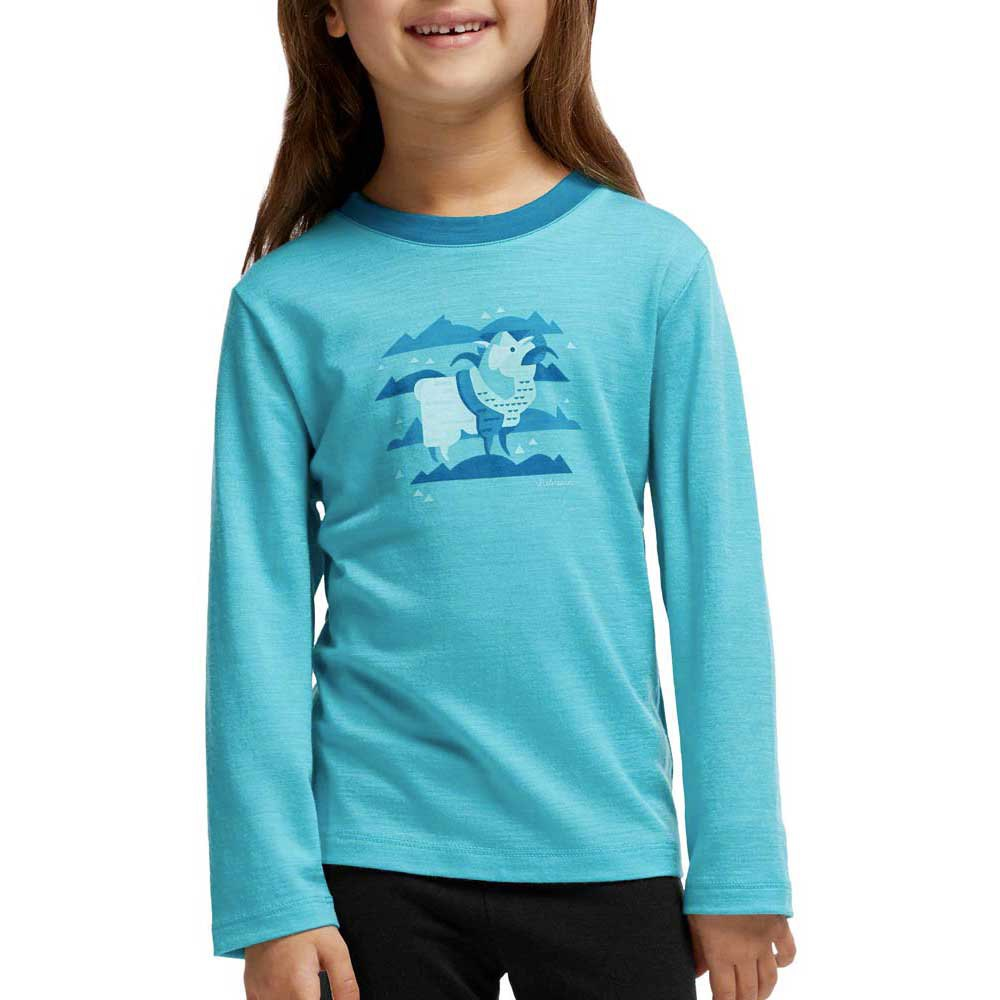 Icebreaker Kids Tech L/S Crewe Merino Girl