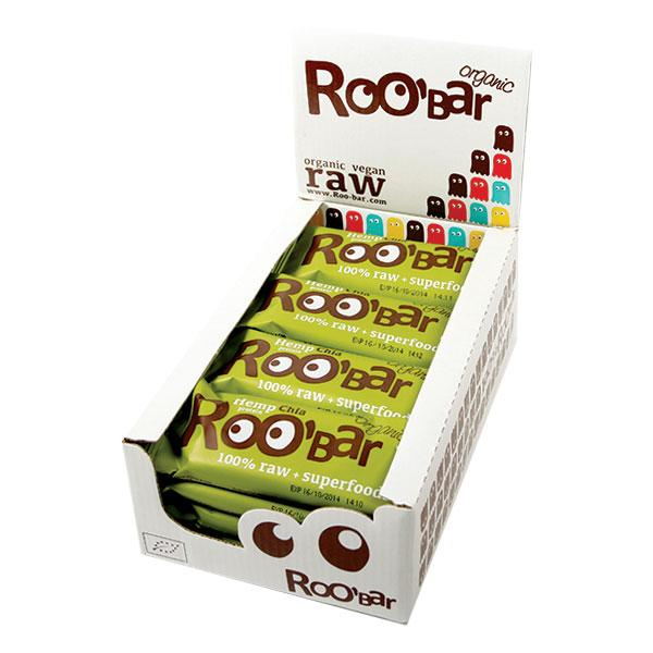 Roo´bar Raw Energy Bar Hemp Protein And Chia 50gr X 16