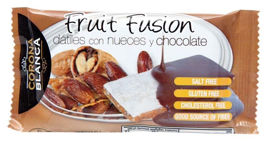 FRUIT FUSION Bar Chocolate Date And Walnut 40 g x 20 Units