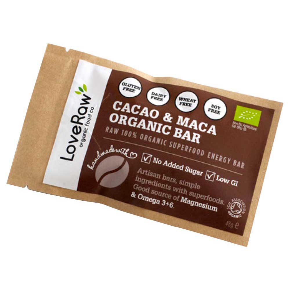 Loveraw Bar Cocoa And Maca 48 g x 12 Units
