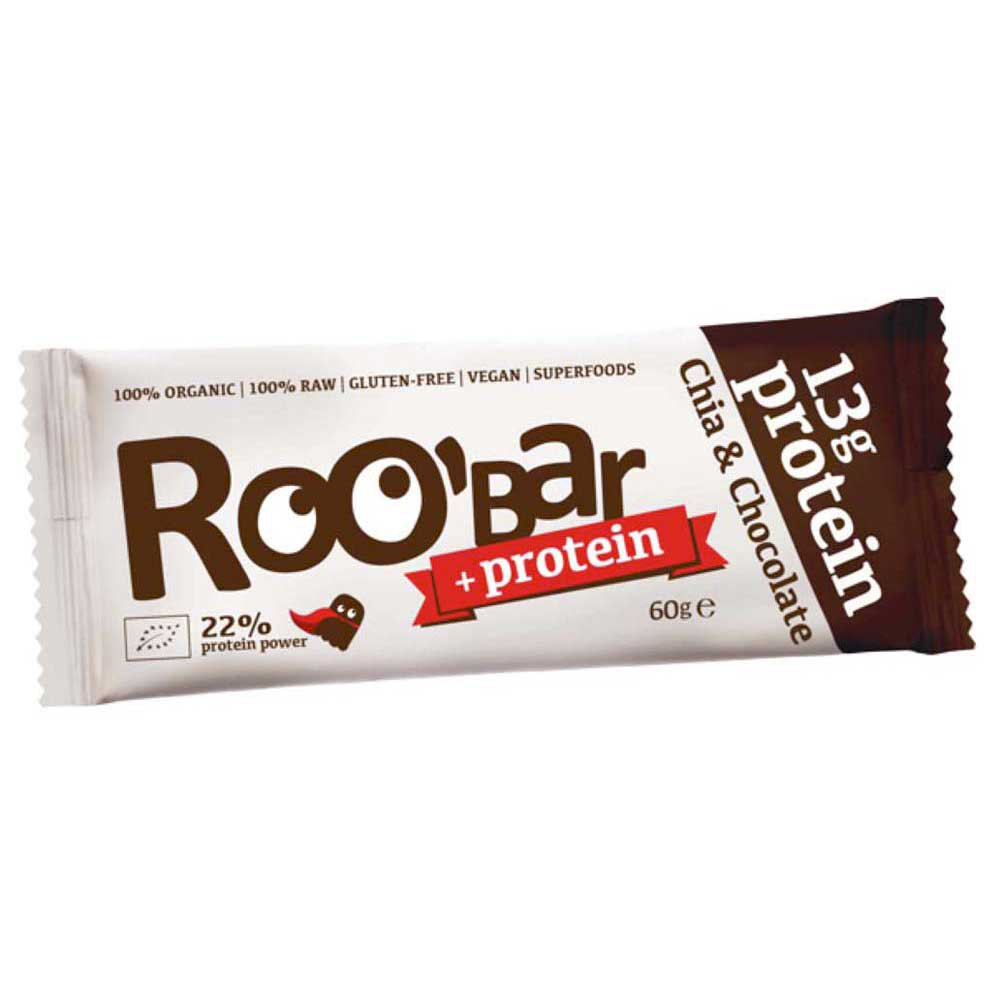 Roo´bar Bar Chia And Chocolate Protein Bar 60gr