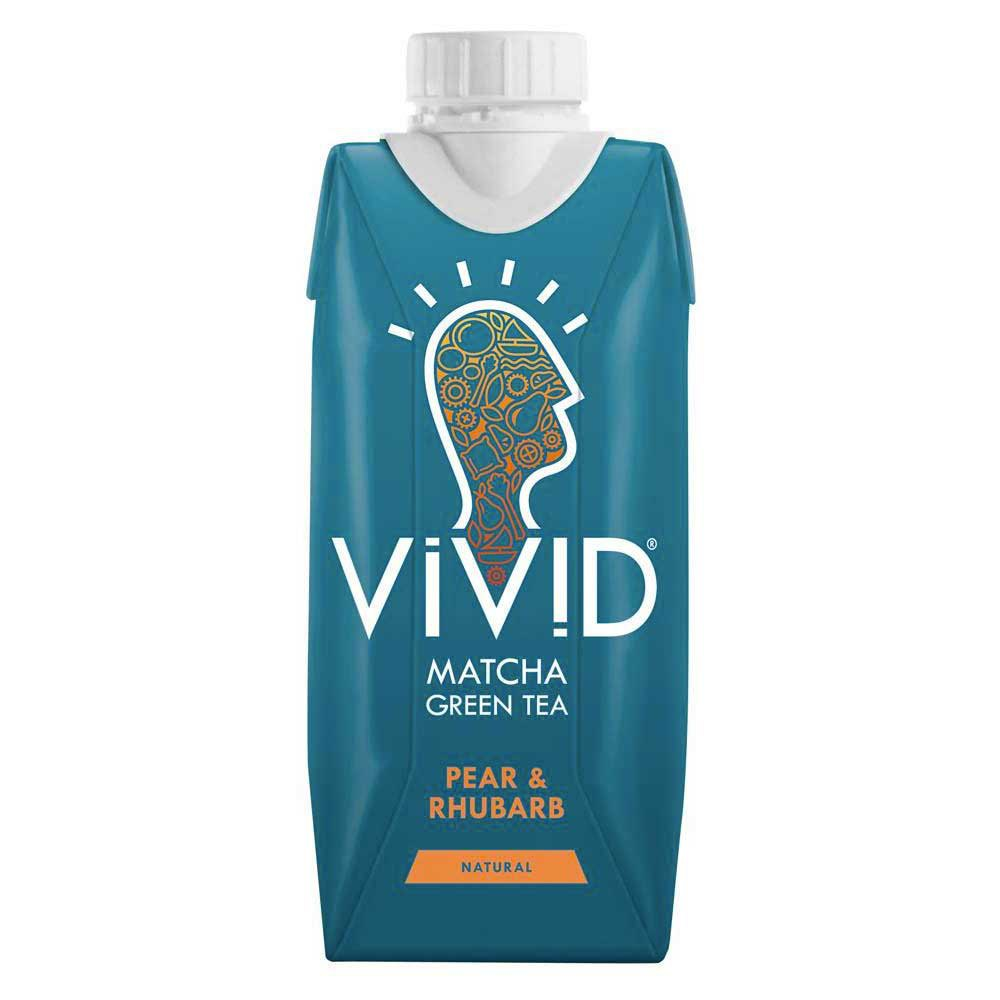 Vivid Matcha Tea Pear And Rhubard 330ml x 12 Units