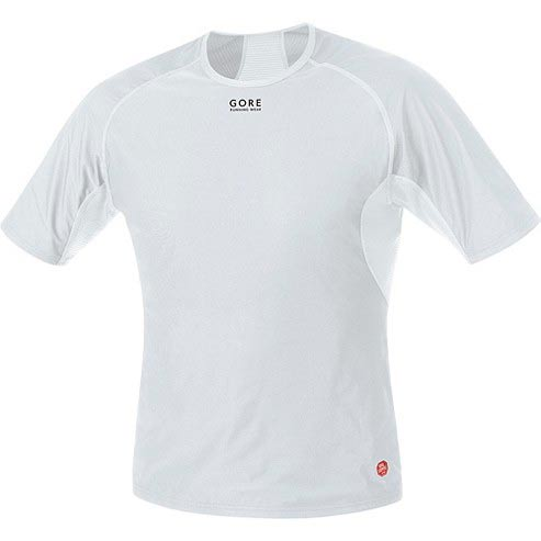 Gore running Essential Base Layer Windstopper Light Grey / White