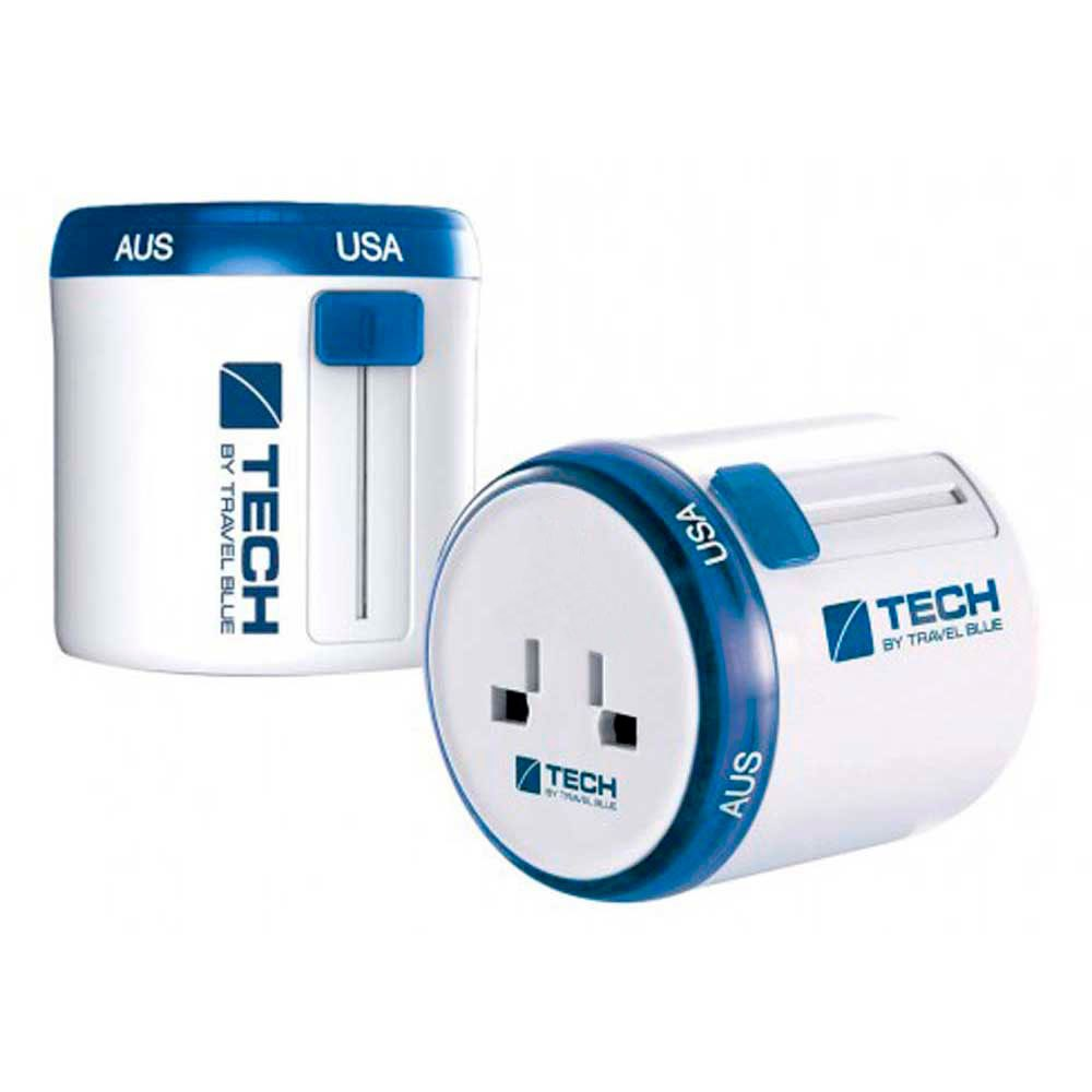 Charge et données Travel-blue Twist & Side World Travel Adaptor