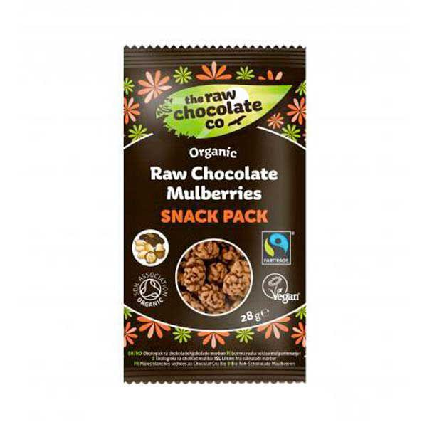The raw chocolate co Organic Raw Chocolate Mulberries 28gr