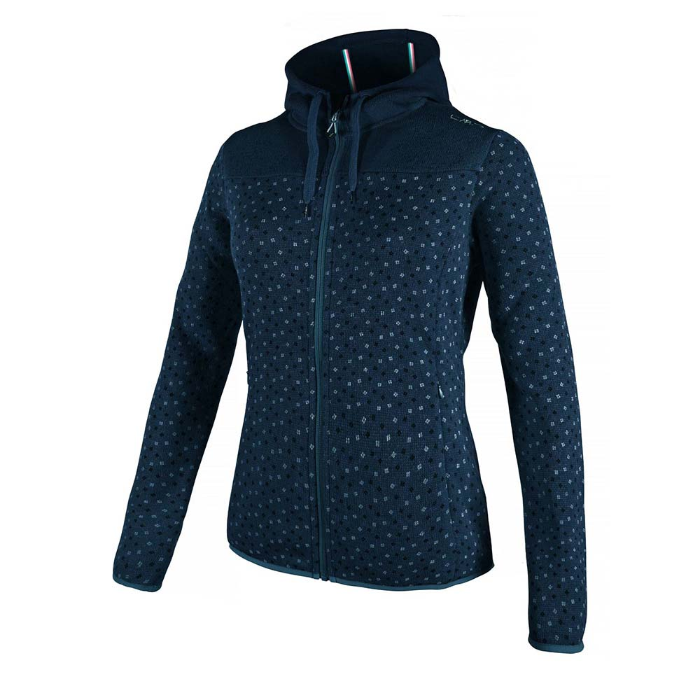 Cmp Outdoor Fix Hood Knit Tech Printed