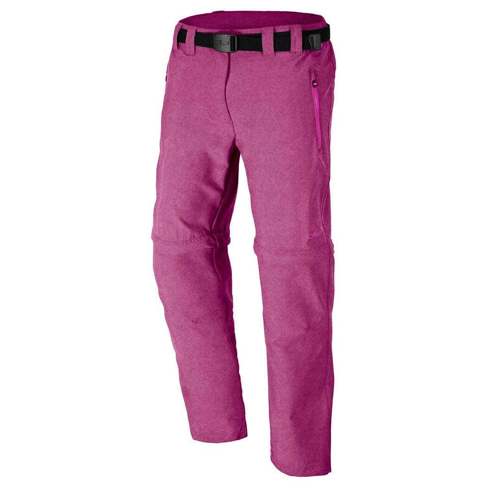 Cmp Stretch Zip Off Melange Long Pants Girls