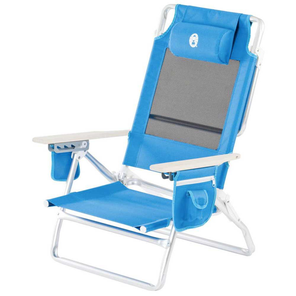 Coleman Folding Chair Low Recliner  sc 1 st  TrekkInn.com & Folding Chair Low Recliner Blue Trekkinn