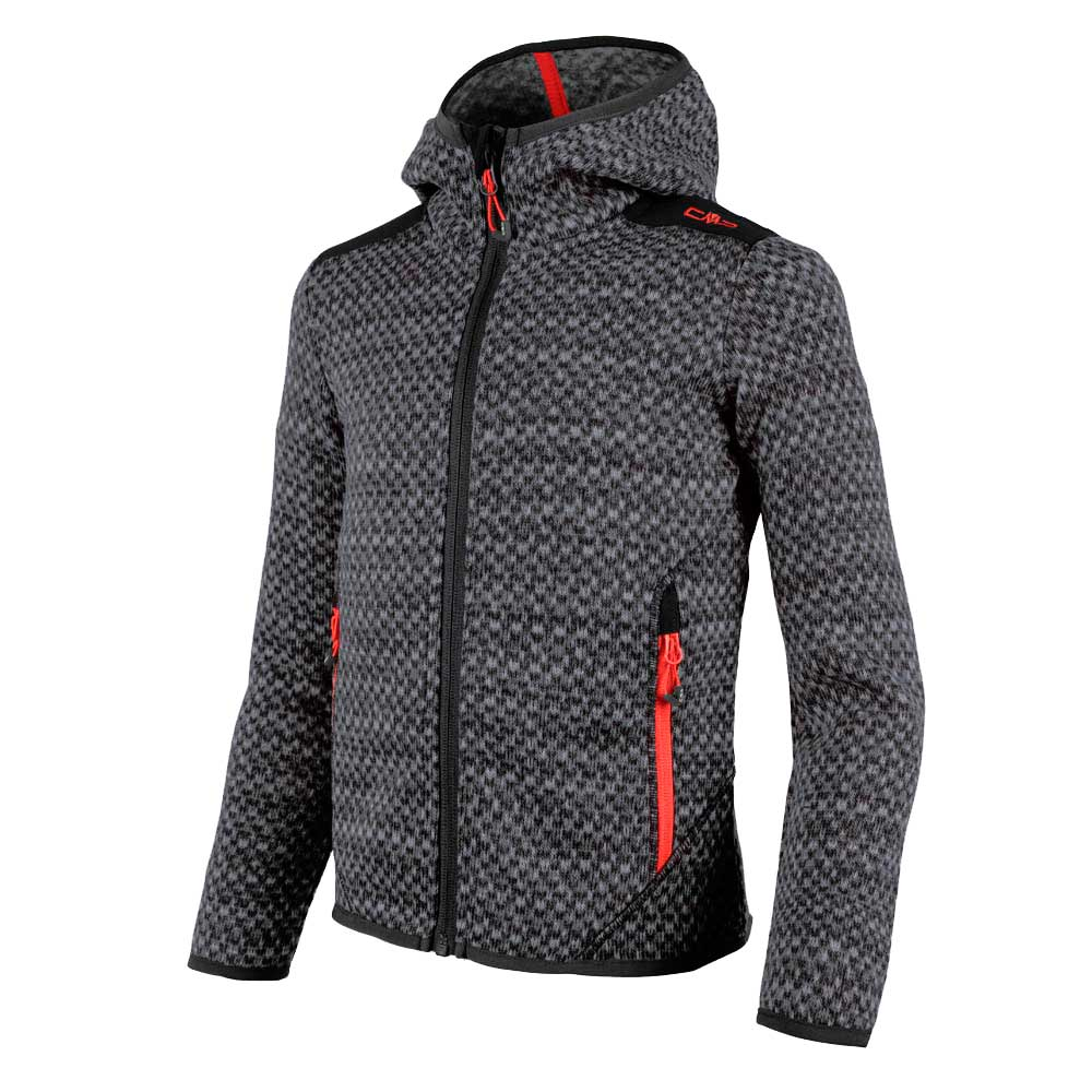 Cmp Girl Knitted Fix Hood Jacket