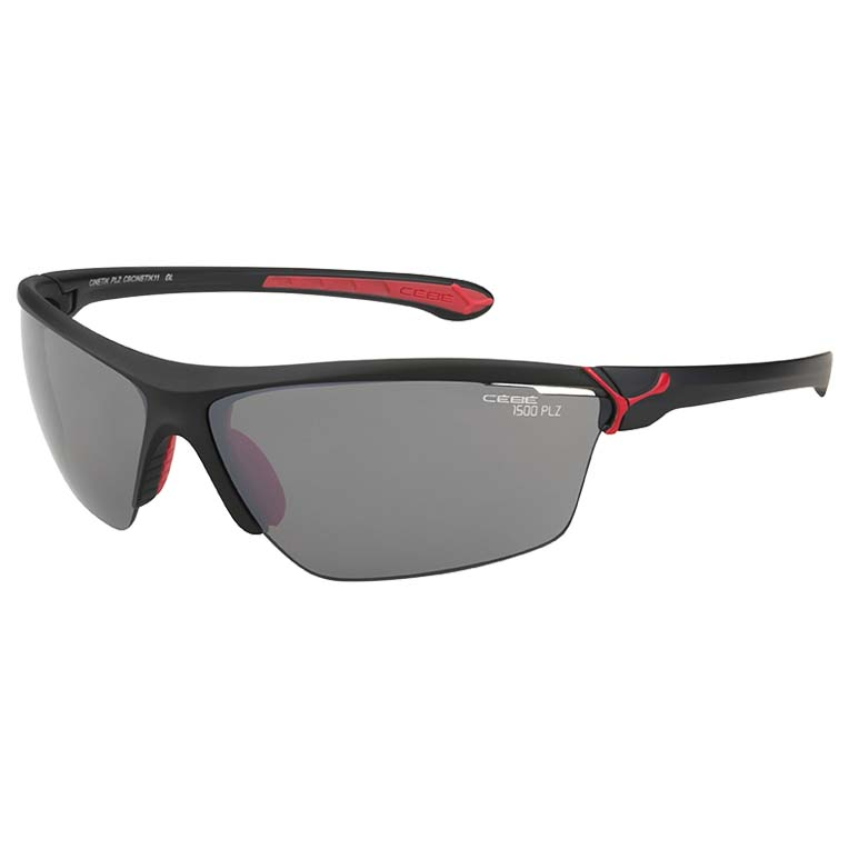 Cinetik 3 Polarized, Farbe: Matt Black / Red Matt Black / Red