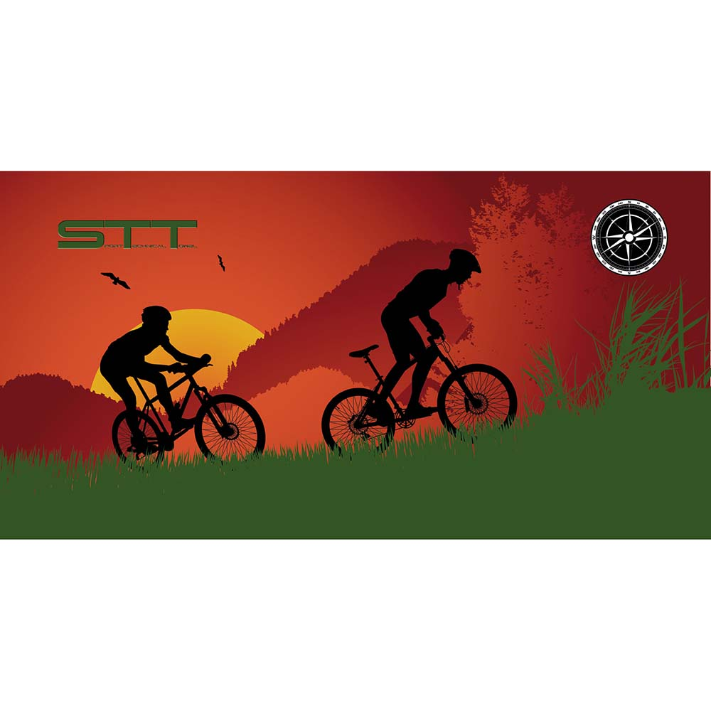 Stt sport Crazy Towel Mountain Bike Sunset Terry Loop