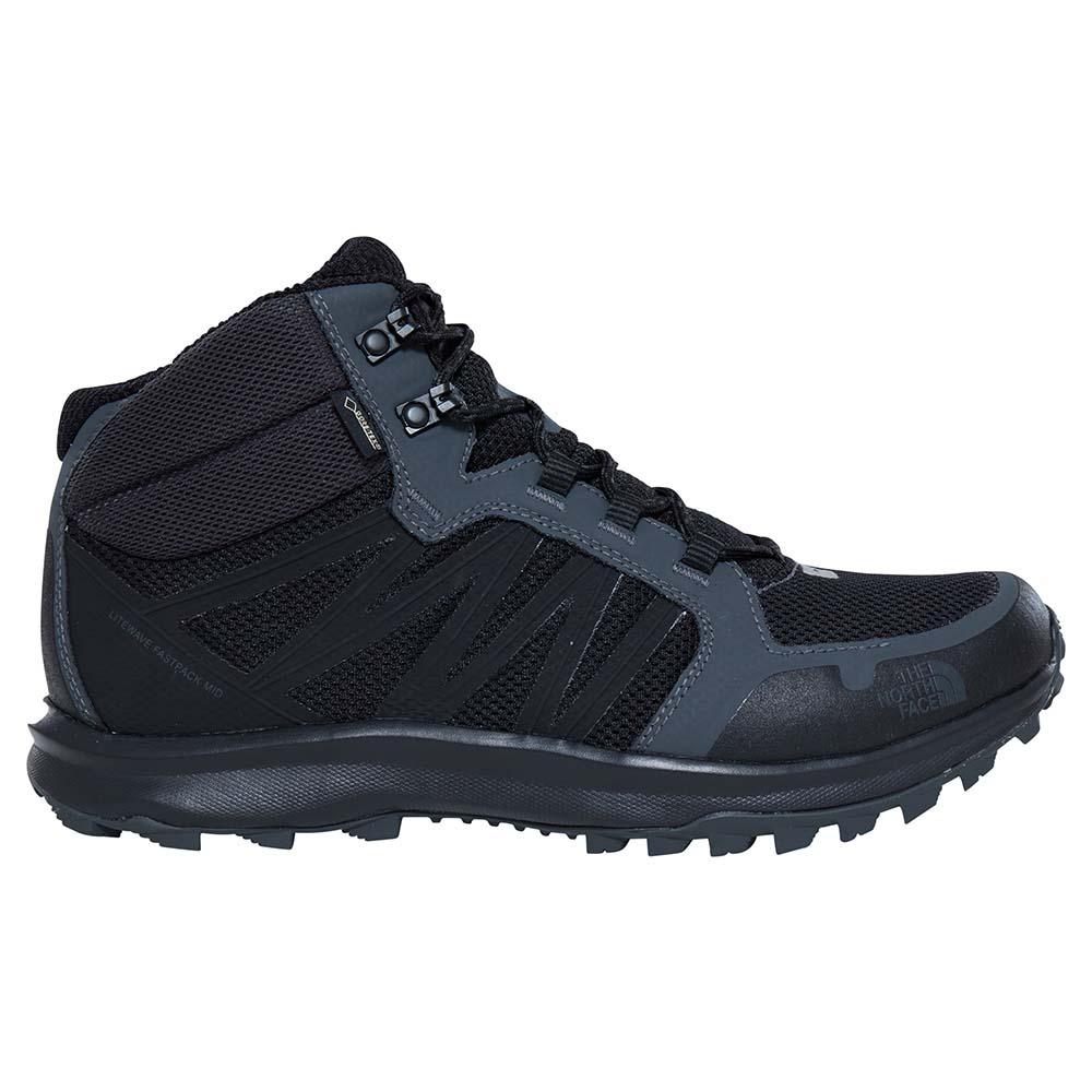 The North Face LITEWAVE FASTPACK - Walking shoes - black ga3LfAfb7C