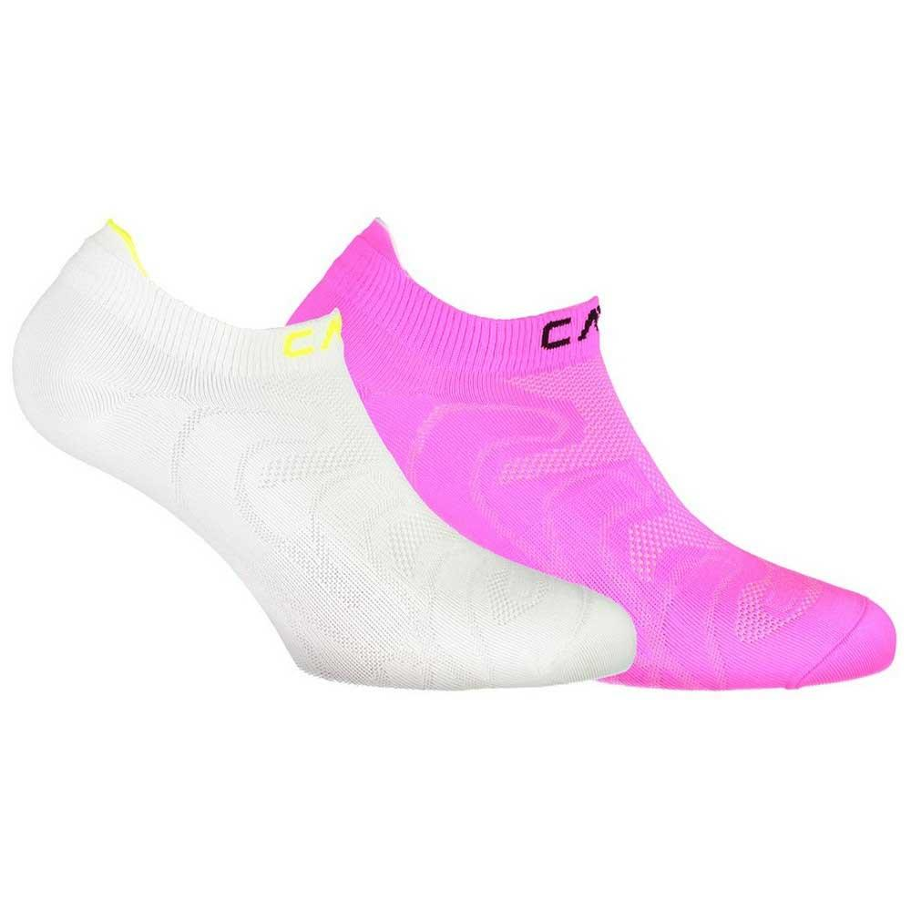 Chaussettes Cmp Ultralight Pa 2 Pack EU 25-27 White / Pink Fluo