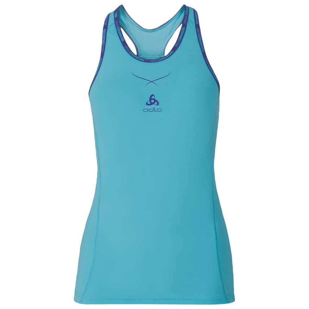 Womens ODLO Cool Womens Singlet with Crew Neck ceramic/ / Singlet Crew Neck Ceramicool