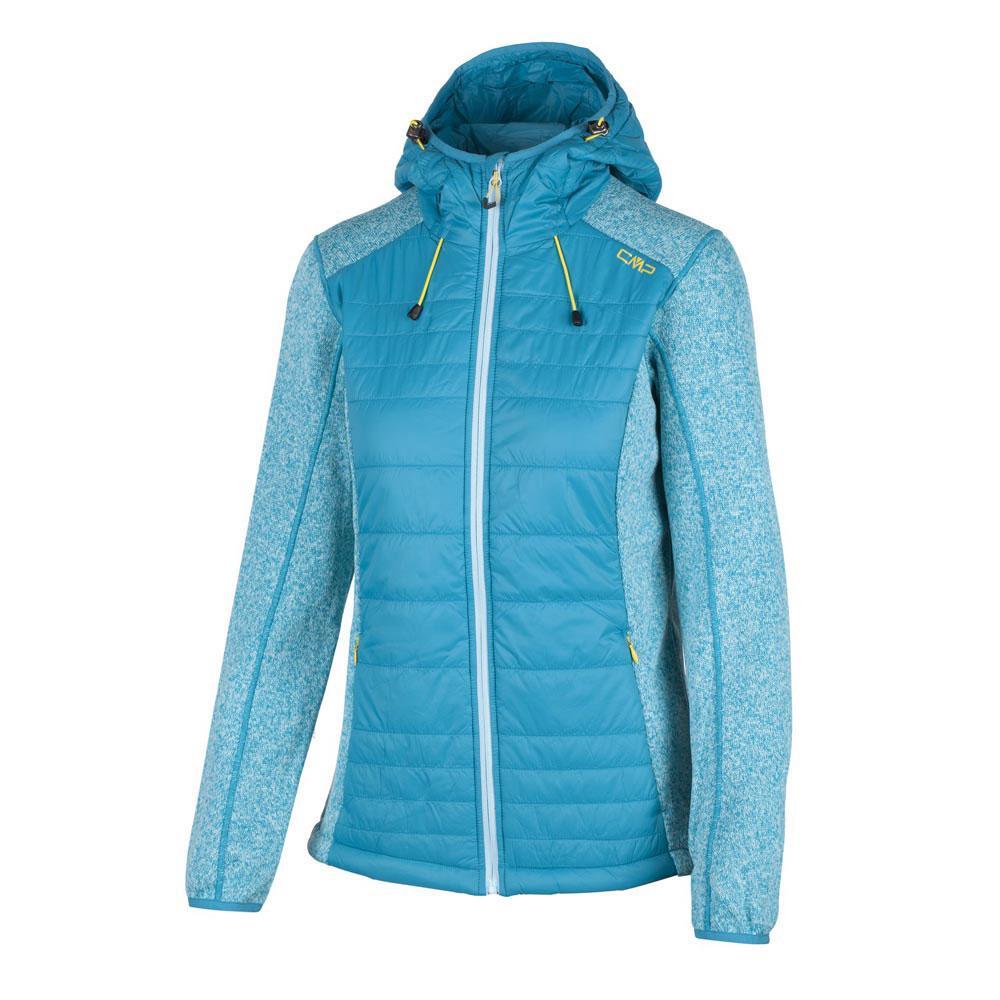 CMP Woman Fix Hood Hybrid Jacket Damen Fleecejacke