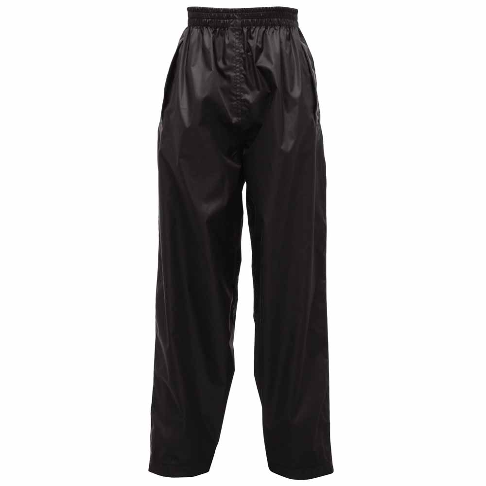 Black Regatta Childrens Pack It Pack It Over Trousers Size 9-10