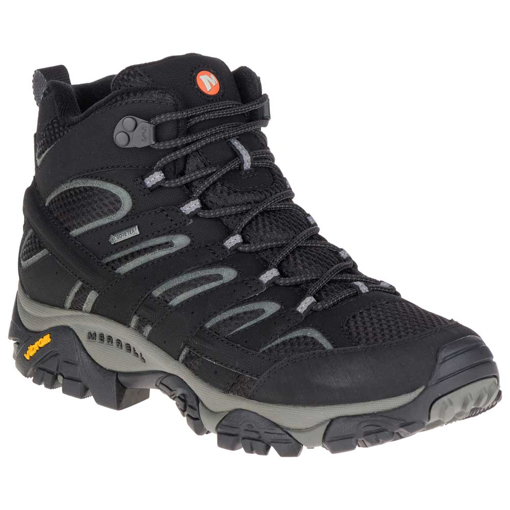 Merrell Moab 2 Mid Goretex Black buy and offers on Trekkinn bbaa675ca7