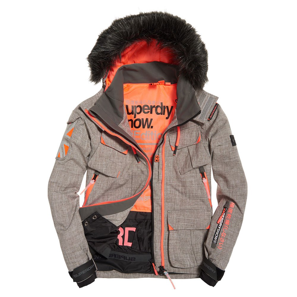 Superdry Ultimate Snow Service Jacket Gris, Trekkinn