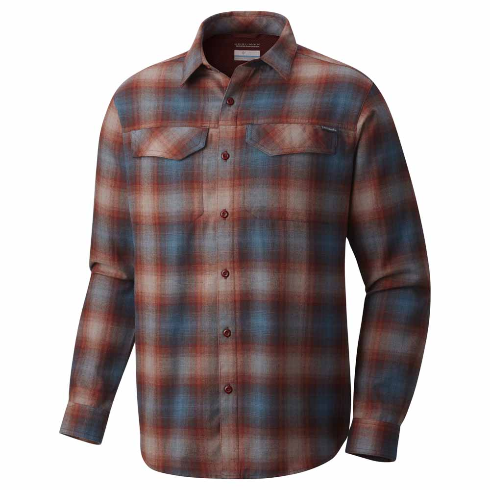 Columbia Silver Ridge Flannel Long Sleeve Shirt Marrón 94ec07d6264