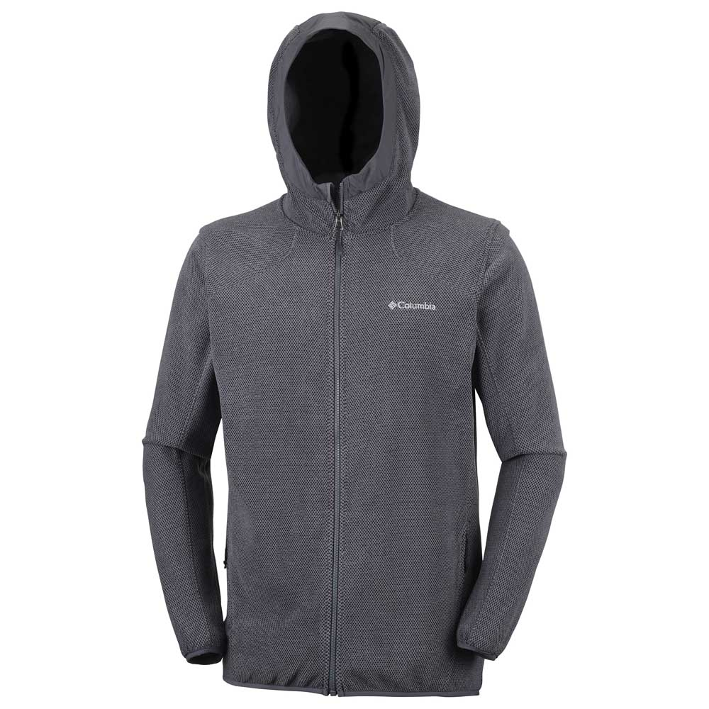 Hiker Tough Trekkinn Hooded Columbia Gris Fleece RBx5w4q