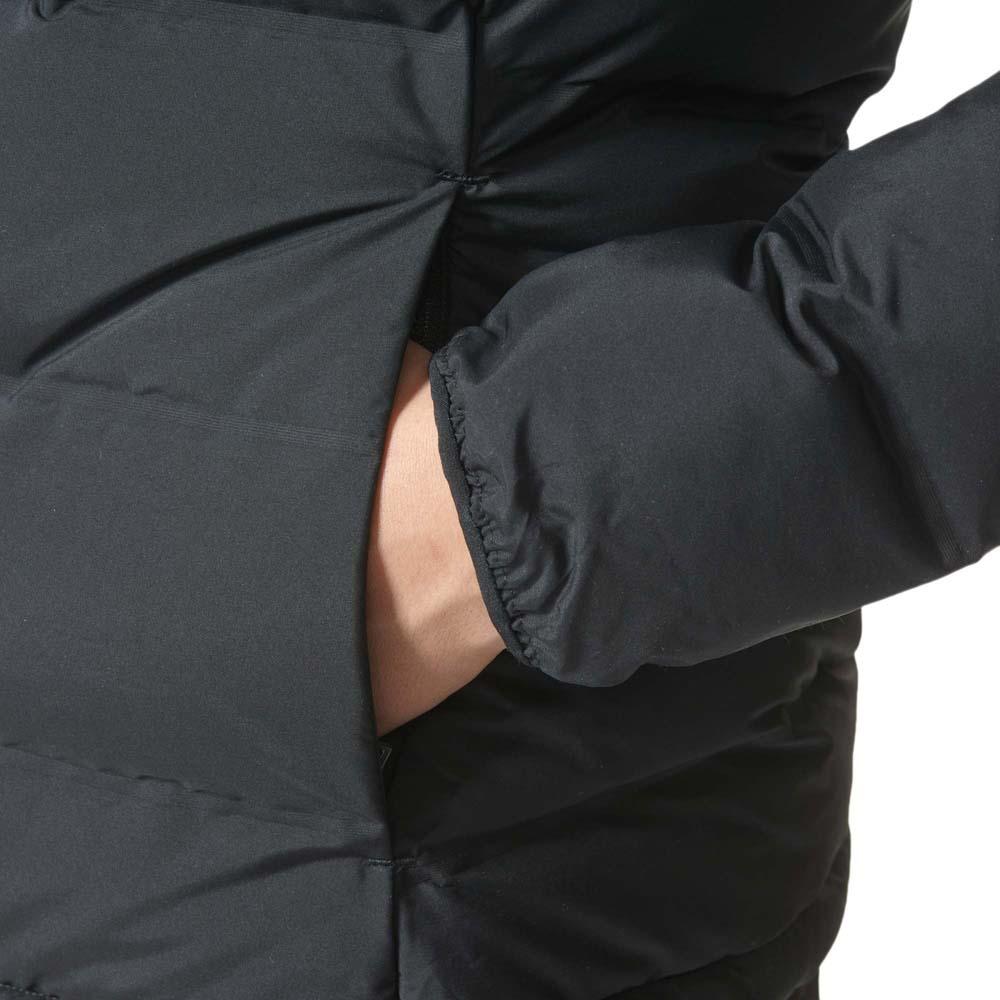 Casaco adidas Helionic Down Hooded preto mulher