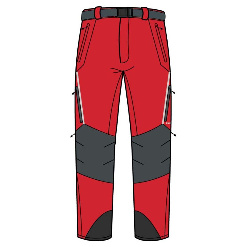 Pantalons Trangoworld Prote Extreme Ds XL Fiery Red / Magnet