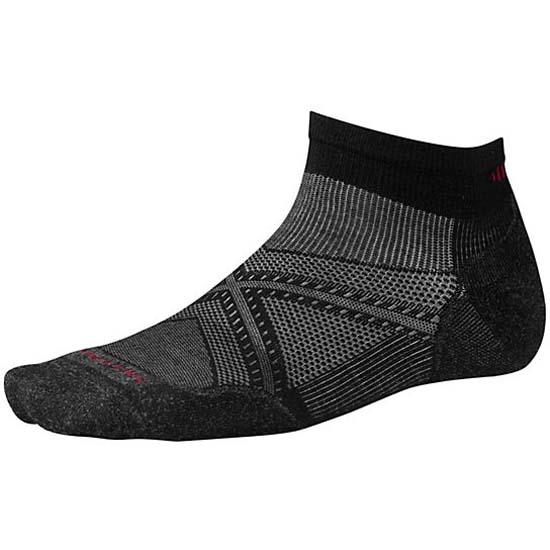 SmartWool Mens Smartwool PhD Ski Medium Socks Black Grey Sports Outdoors Warm
