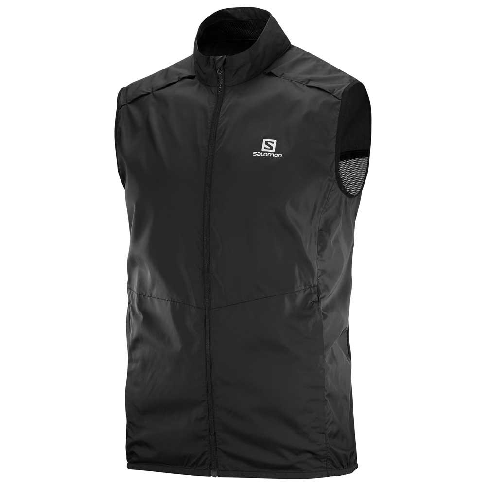 88efdead03 Salomon Agile Wind Vest Black buy and offers on Trekkinn