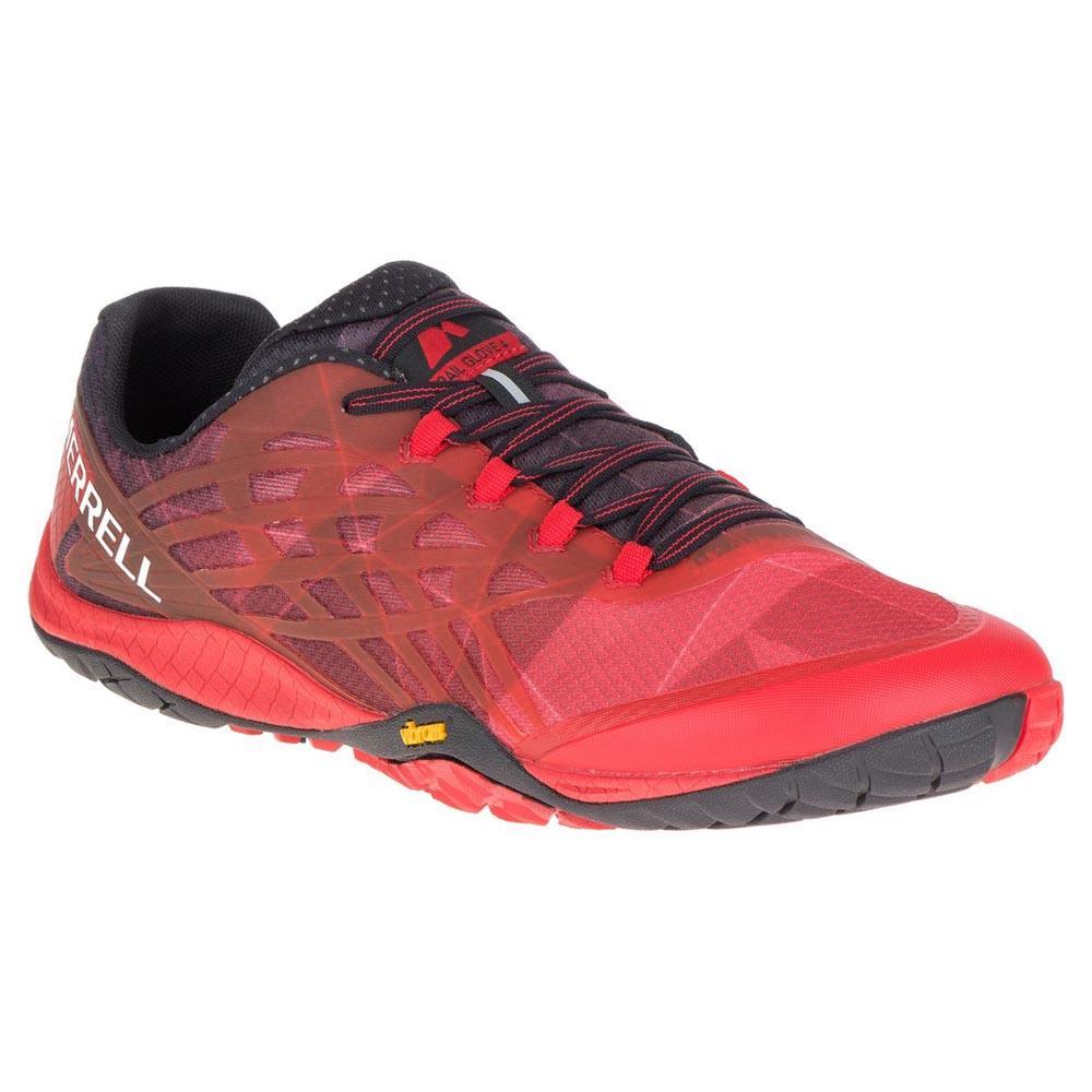 merrell trail glove 4 grey red