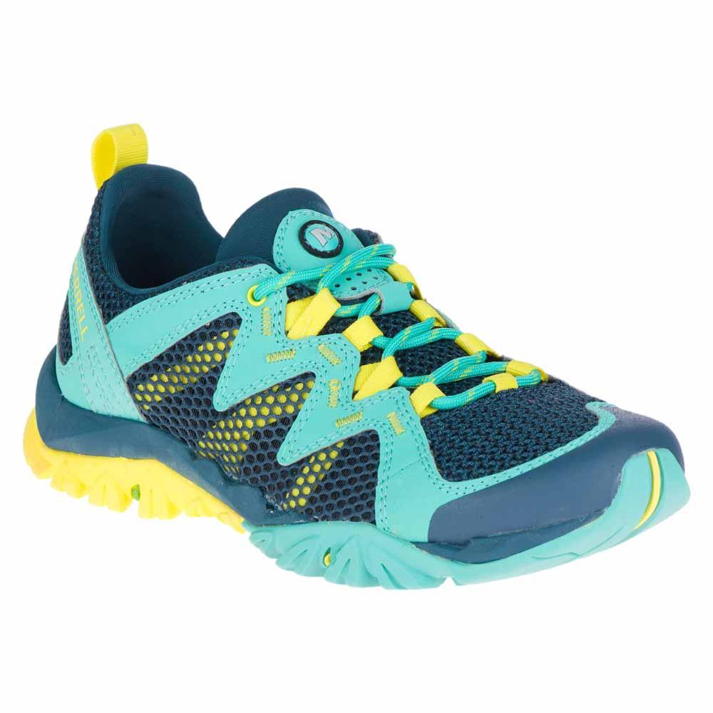 Merrell TETREX RAPID CREST - Hiking shoes - turquoise b6Edh2
