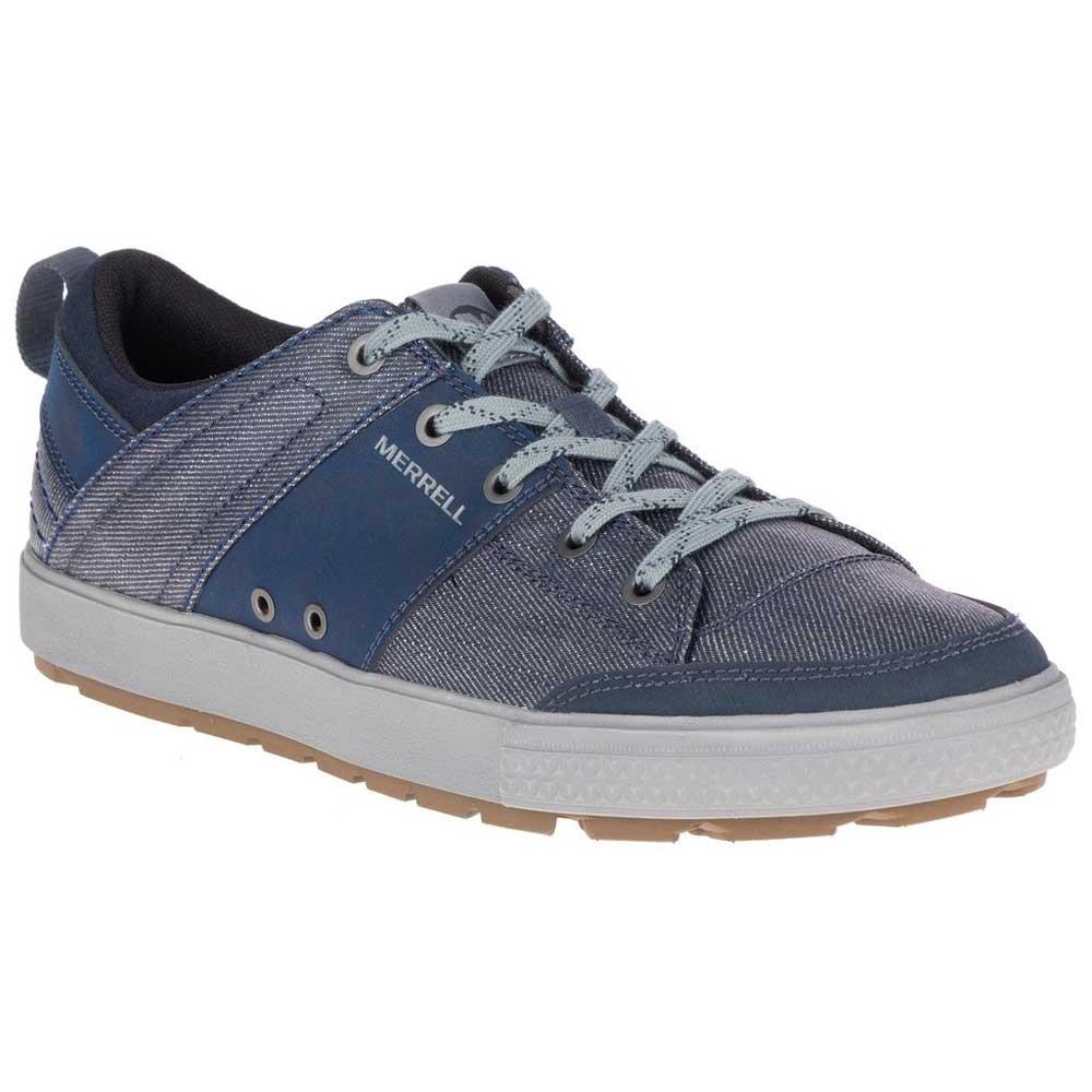 Merrell Rant Discovery Lace Canvas, Zapatillas Para Hombre, Azul (Denim), 49 EU