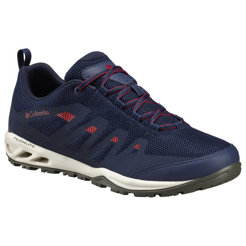 Columbia VAPOR VENT - Hiking shoes - collegiate navy/mountain red OhXVU4AiK