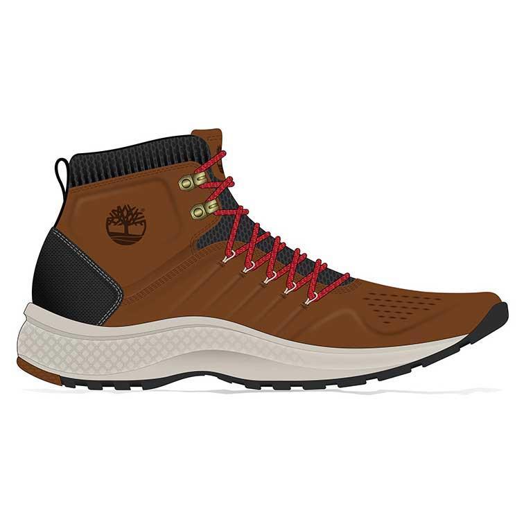 6c3db492dd5d Timberland Flyroam Trail Mid Leather Wide Brown
