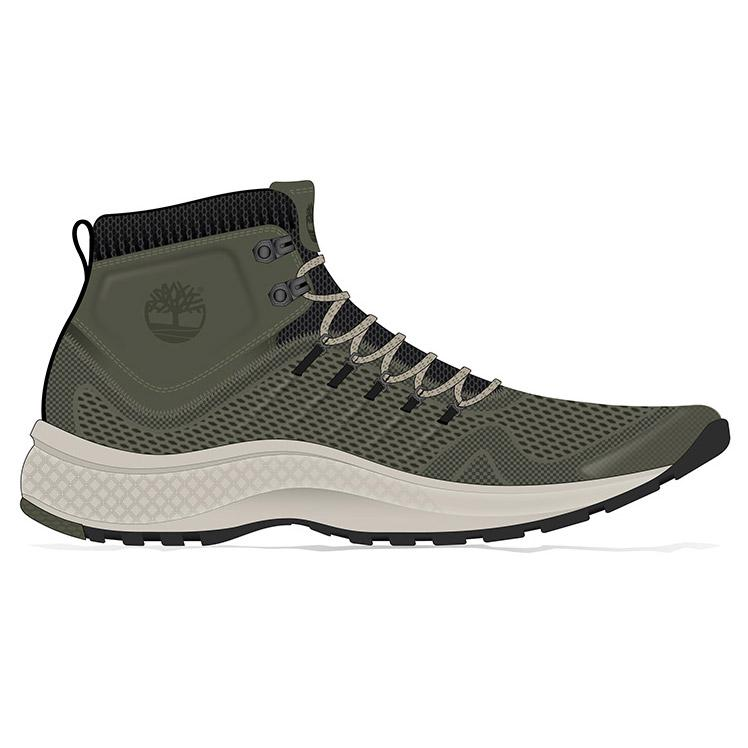 undefeated x good looking shop best sellers Timberland Flyroam Trail Mid Fabric Wide Green, Trekkinn