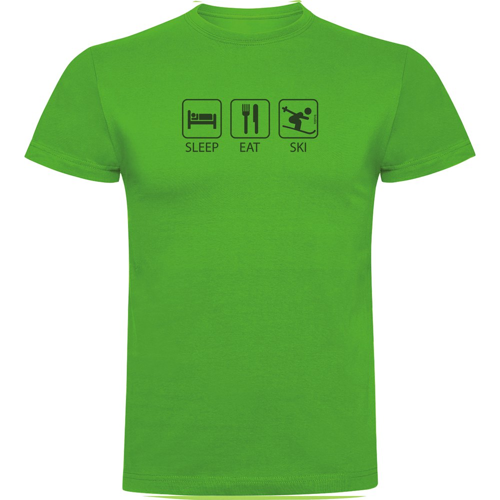 T-shirts Kruskis Sleep Eat And Ski XXL Green
