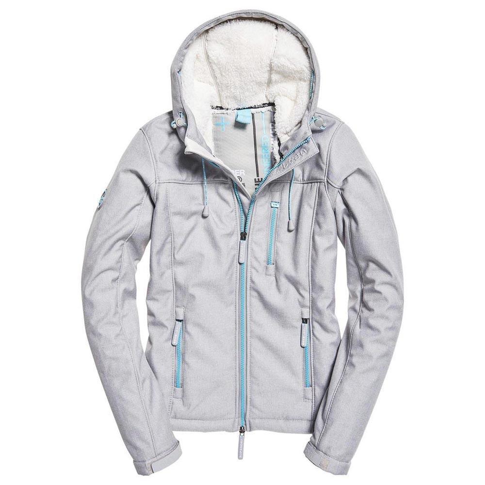 Hooded Winter Veste Femme SUPERDRY GRIS pas cher Veste