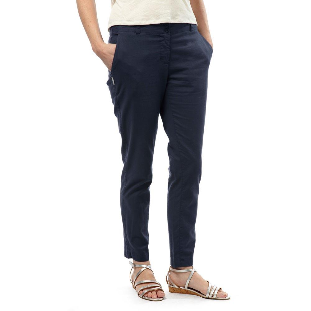 Craghoppers Odette Womens Pants Blue Lightweight Smart Casual Travel Trousers