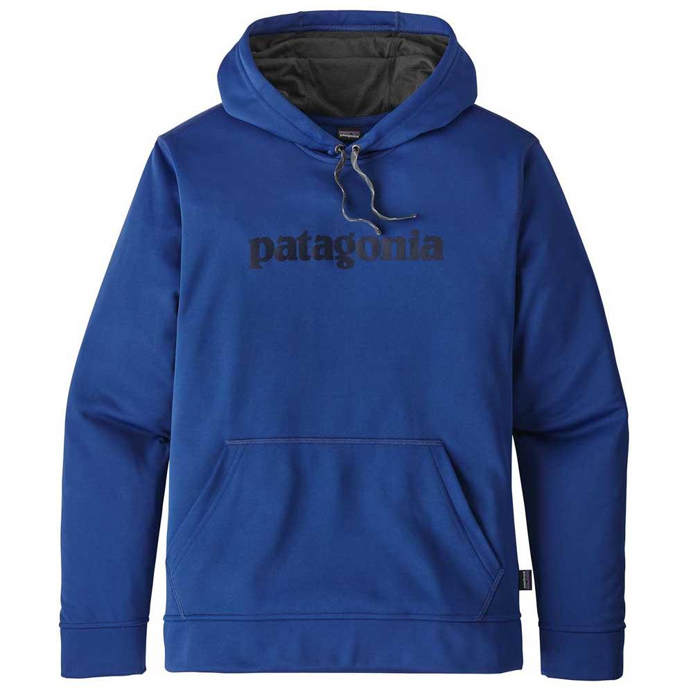 good looking finest selection exquisite style Patagonia Text Logo Hoody Blue buy and offers on Trekkinn