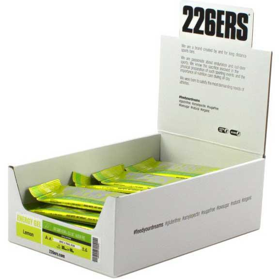226ers Energy Gel Bio Lemon Caffeine 40gr X 30 Units