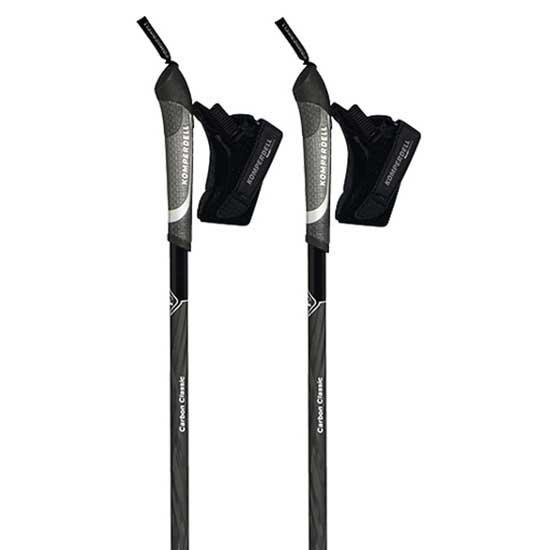 Bâtons de randonnée Komperdell Carbon Classic 115 cm Black